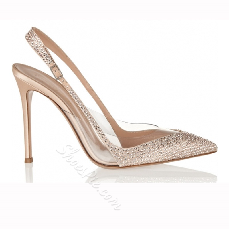 Shoespie Pointed Toe Slingbacks Stiletto Heels