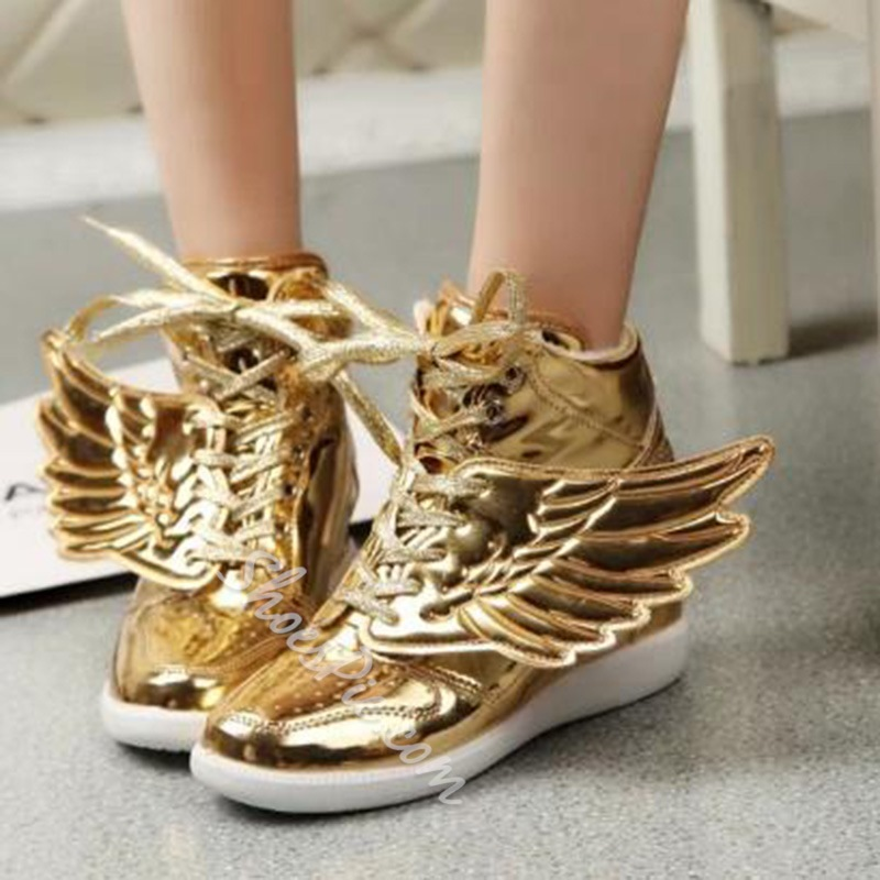 Shoespie Fashionable Metal In-elevator Wing Decoration Sneaker