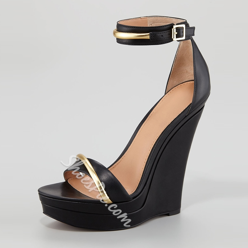 Find black wedge ankle strap shoes at ShopStyle. Shop the latest collection of black wedge ankle strap shoes from the most popular stores - all in one.