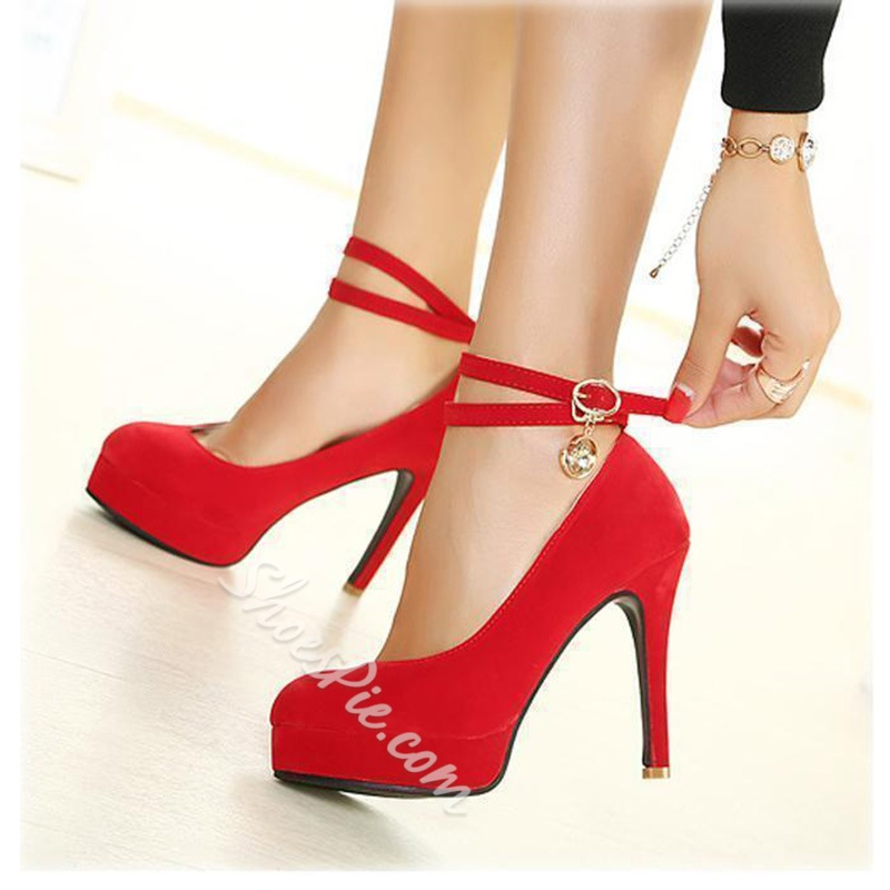 Sexy Platform Stiletto Heels with Ankle Straps
