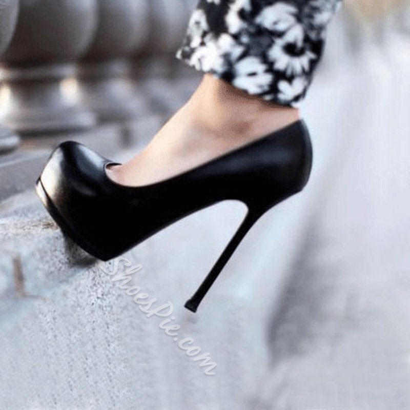 Sexy Black Platform Stiletto Heels