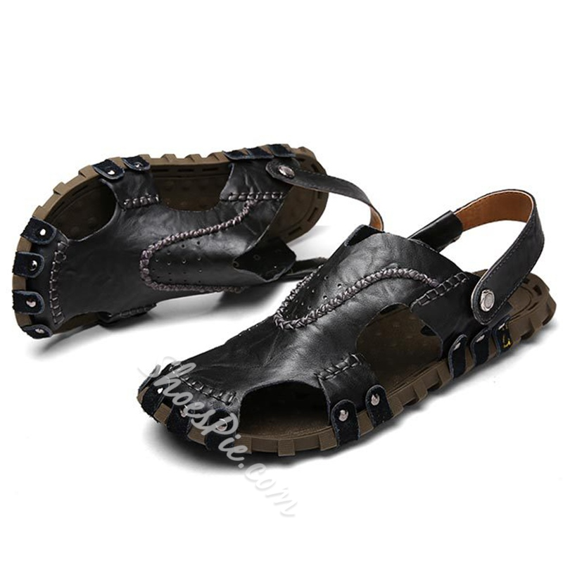 Shoespie Cutout Slingbacks Men's Sandals