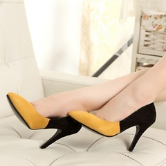 Shoespie Two Tone Color Block Stiletto Heels