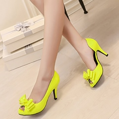 Shoespie Stylish Bow Peep Toe Stiletto Heels