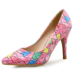 ShoespieSlip-On Stiletto Heel Color Block Stiletto Heel