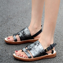 Shoespie Leather Roman Sandals
