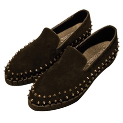 Shoespie Unique Spikes Trimed Men's Loafers