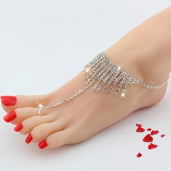 Shoespie Sexy Tassels Toe Ring Anklet