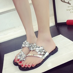Shoespie Shining Clip Toe Slides