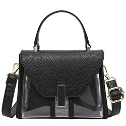 Shoespie Elegant Illusion Patchwork Satchel