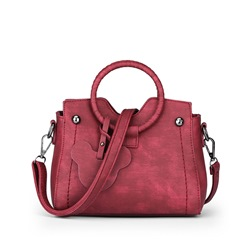 Shoespie Chic Solid Color Round Handle Tote Bag