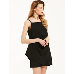 Plain Spaghetti Strap A-Line Dress