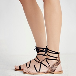 Shoespie Simple Lace Up Roman Sandals