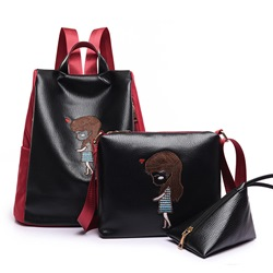 Shoespie Trendy Cute Cartoon Print Bag Sets