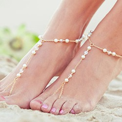 Shoespie Elegant Beading Chain Anklet