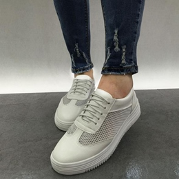 Shoespie Mesh Summer White Sneakers