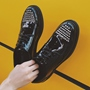 ShoespieBlack Flat Rivets Decorated Lace Up Men's Casual Shoes