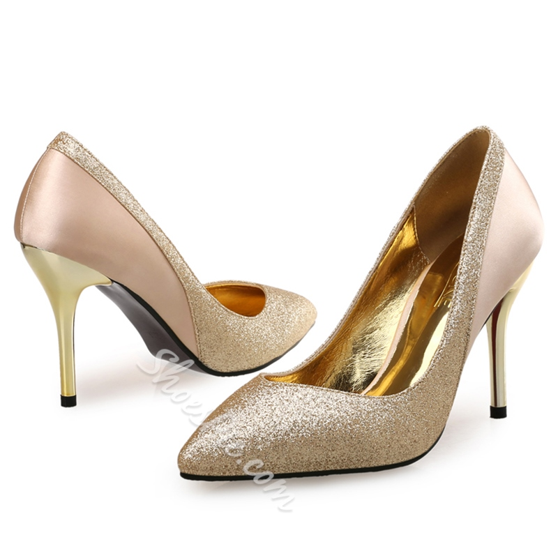 Shoespie Chic Glittering Pointed Toe Stiletto Heels