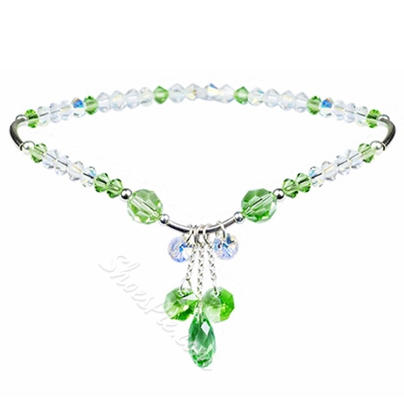 Shoespie Sweet Dreaming Crystal Inlaid Anklet