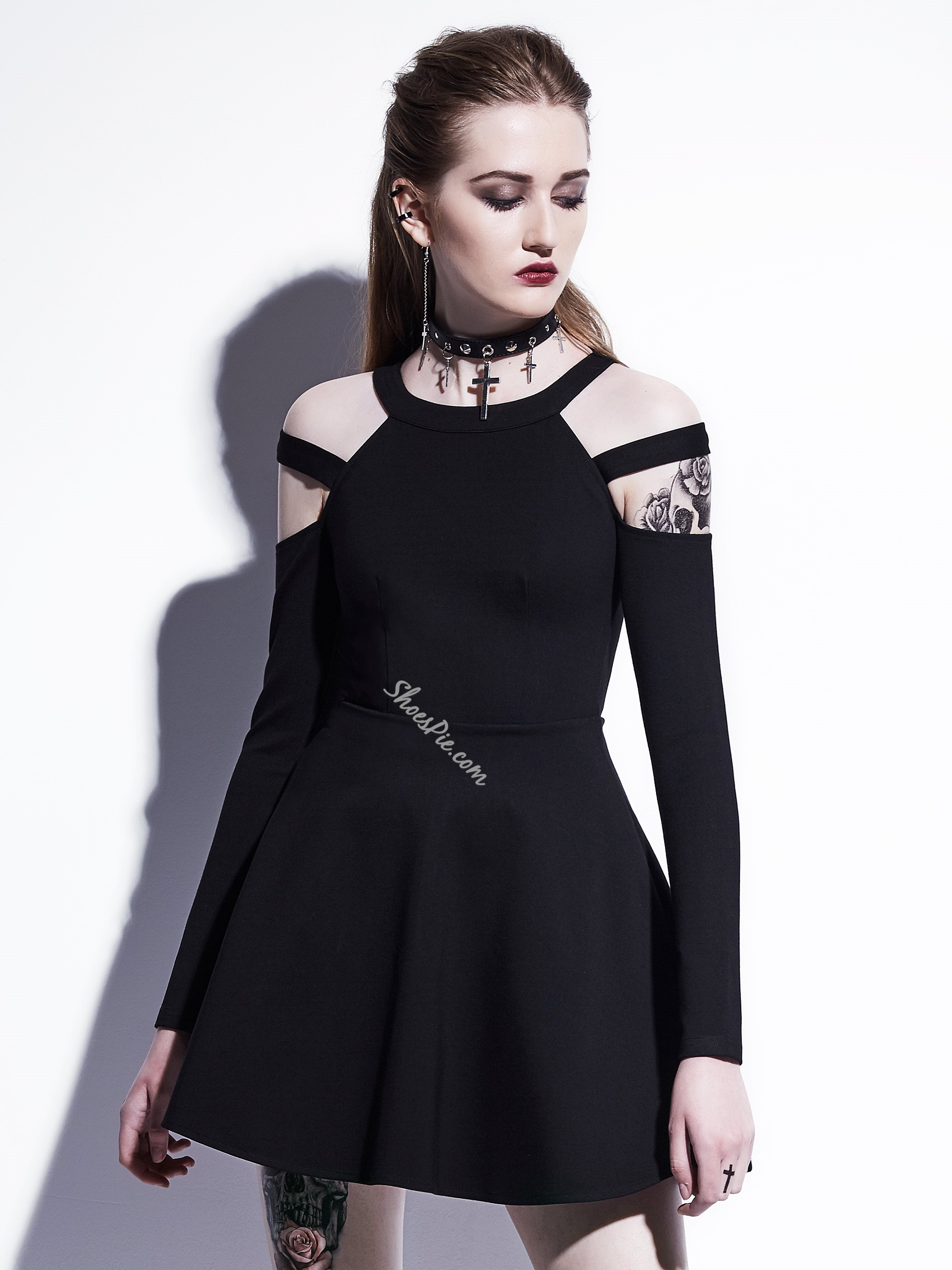 Shoespie Hollow Long Sleeve Bodycon Dresses