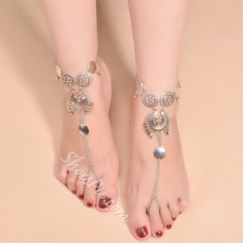 Shoespie Exotic Style Geometric Patched Anklet