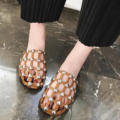 Shoespie Unique Caged Slippers