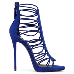 Shoespie Blue Elastic Strappy Dress Sandals