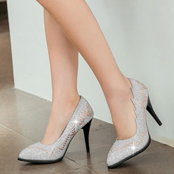 Shoespie Sequined Court Shoes