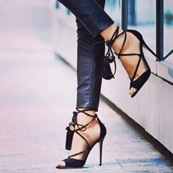 Shoespie Stylish Lace Up Stiletto Heel
