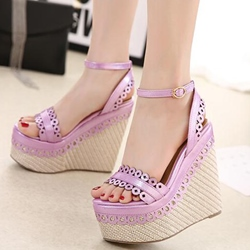 Shoespie Cute Cutout Wedge Sandals
