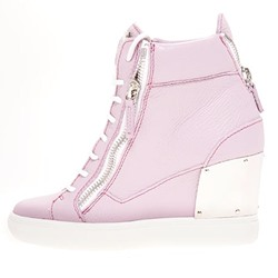 Shoespie Cute Pink Wedge Sneakers