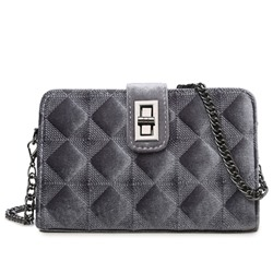 Shoespie Elegant Rhombic Print Chain Bag