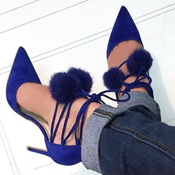 Shoespie Stylish Pointed Toe Lace Up Stiletto Heels