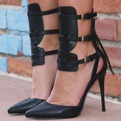 Shoespie Gorgeous Tri-Strap Stiletto Heels