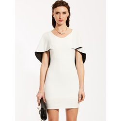 V-Neck Batwing Sleeve Bodycon Dress