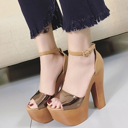 Shoespie Concise Platform Heel Sandals