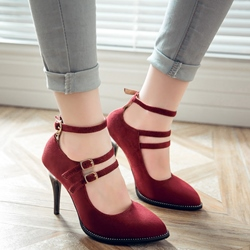 Shoespie Elegant Strap Ankle Wrap Stiletto Heels