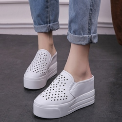 Shoespie Cut Outs Flip On Platform Casuals