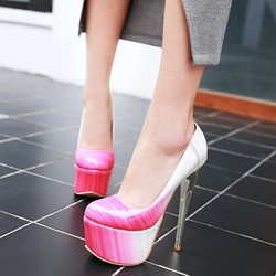 Shoespie Gorgeous Gradually Changing Color Platform Heels