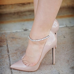 Shoespie Light Apricot Nude Stiletto Heels