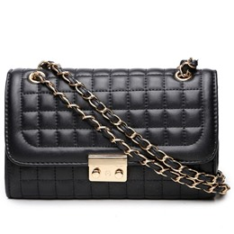 Shoespie Elegant Solid Color Quilted Crossbody Bag