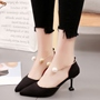 Shoespie Ankle Bangle Mid Heel Pumps
