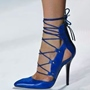 Shoespie Stylish Royal Blue Lace Up Stiletto Heels
