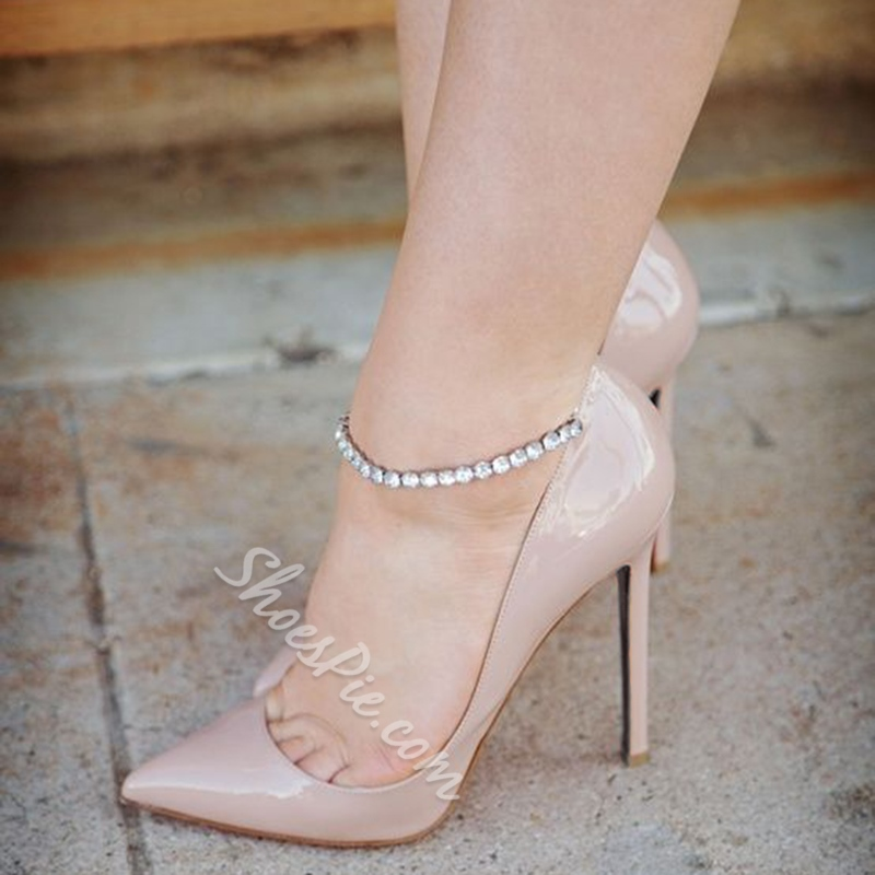 Shoespie Light Apricot Nude Stiletto Heels Shoespie