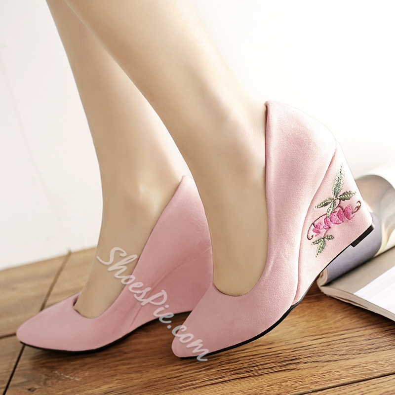 Shoespie Solid Color Comfortable Wedge Heels