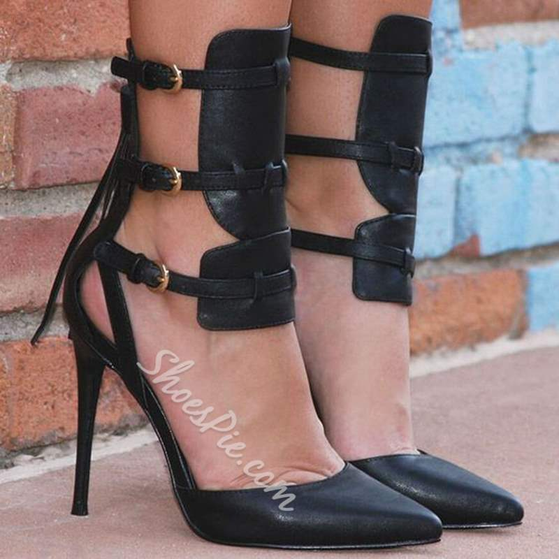 Shoespie Sexy Tri-Strap Stiletto Heels