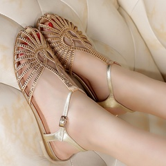 Shoespie Shine Out Caged Flat Sandals