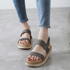 Shoespie Normchrome Strappy Flat Sandals