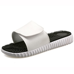 Shoespie Black and White Men's Slippers