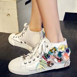 Shoespie Colorful Appliques Sneakers